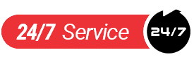 24 hours 7 days a week service